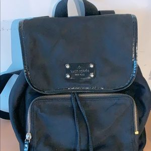 Kate Spade Classic Nylon Black Backpack